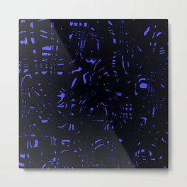 Dark spots on marble dust with volcanic blue tints. Metal Print