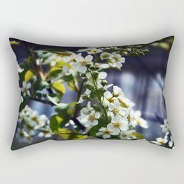 Bird cherry over water Rectangular Pillow