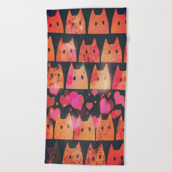 cat-96 Beach Towel