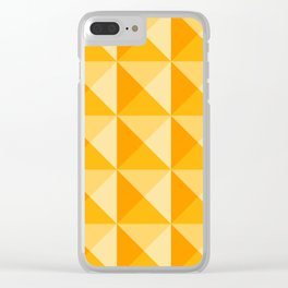 Geometric Prism in Sunshine Yellow Clear iPhone Case