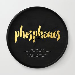 definition: phosphenes Wall Clock