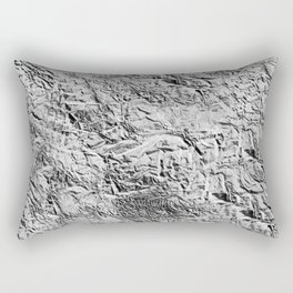 Textured White Rectangular Pillow
