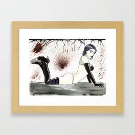 Cassandra in Watercolor ( Cassie Hack / Slash )  Framed Art Print