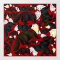 Marten tropical pattern Red by natachapink
