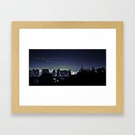 NIGHTinBLUE Framed Art Print