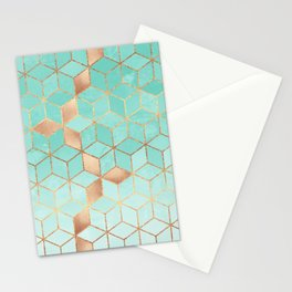 Soft Gradient Aquamarine Stationery Cards