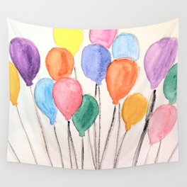 Balloon Doodle Wall Tapestry
