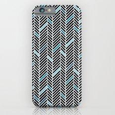 Herringbone Black and Blue iPhone 6s Slim Case