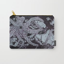 Deep Space Kraken Intaglio Etching Carry-All Pouch