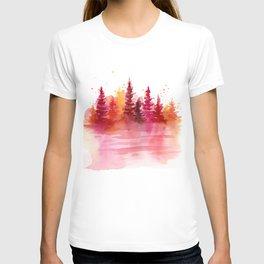 Autumn Woods Watercolor T-shirt
