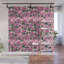 Pink Plumeria Flower Wall Mural