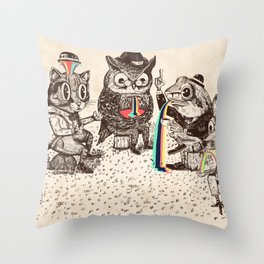 Strange Animals Throw Pillow