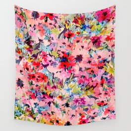 Little Peachy Poppies Wall Tapestry