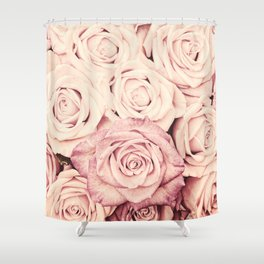 Some people grumble Floral rose roses flowers garden pink Shower Curtain