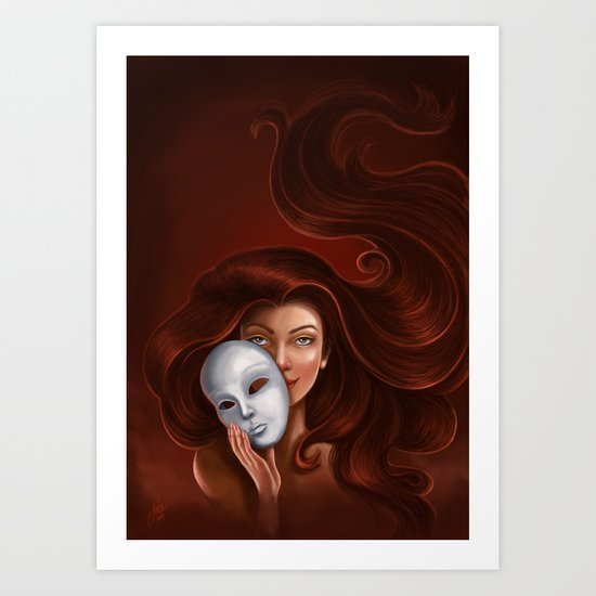 Unmasked Art Print