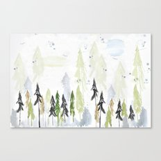 Into the woods woodland scene Canvas Print