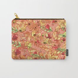apples and leaves autumn vintage pattern Carry-All Pouch