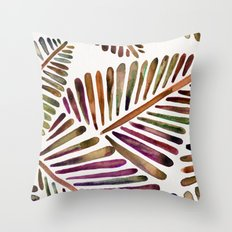 Tropical Banana Leaves – Vintage Palette Throw Pillow