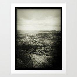 Overlooking Mount Scott Art Print