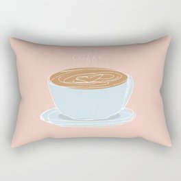 Italian coffee sketch Rectangular Pillow