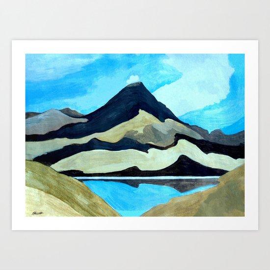 Mt Doom : Tama Lakes Art Print