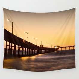 Street Lights on The Pier Wall Tapestry