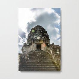 Angkor Wat, Steps to the Lotus Bud, Cambodia Metal Print