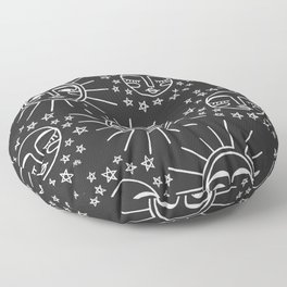 Sun and Moon Pattern Floor Pillow