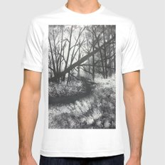 Tangled woods White X-LARGE Mens Fitted Tee