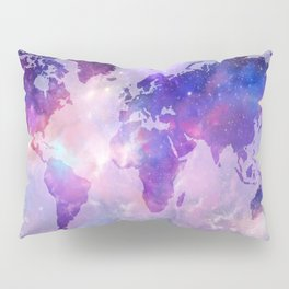 world map galaxy Pillow Sham