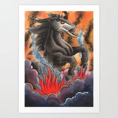 Through Flame Art Print