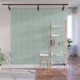 Vintage Look Mint Pattern Wall Mural
