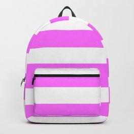 Shocking pink (Crayola) - solid color - white stripes pattern Backpack