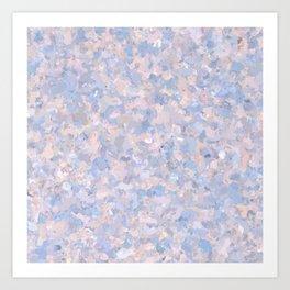 Light pink and blue popcorn 4647 Art Print