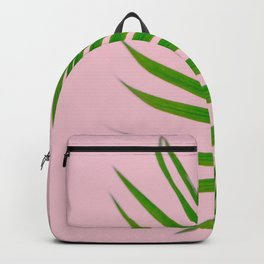 Simple palm leaves in pink Backpack