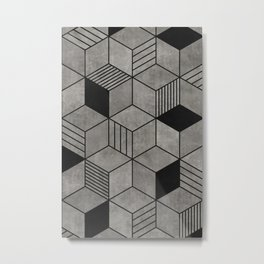 Random concrete hexagons Metal Print
