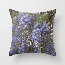 Wisteria Flowers Throw Pillow