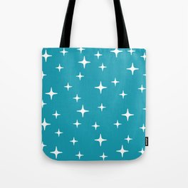 Mid Century Modern Star Pattern 443 Turquoise Tote Bag