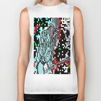heavy metal Biker Tanks featuring Abstract Heavy Metal Rocks by Saundra Myles
