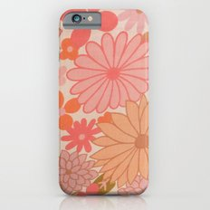 Retro Floral Sheets pink iPhone 6s Slim Case