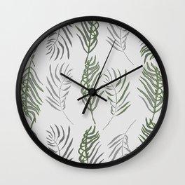 modern fronds Wall Clock