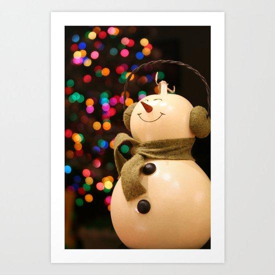 Christmas Makes Me Smile Art Print