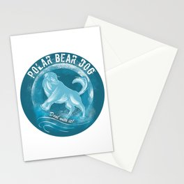 Polar Bear Dog Stationery Cards