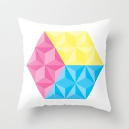 CYM Cube Throw Pillow