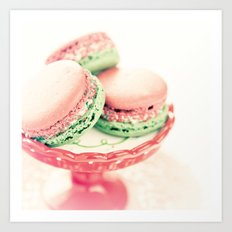 Peppermint Macarons Art Print