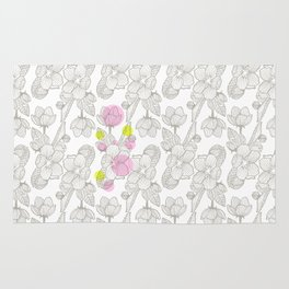 Cherry Flower  Rug