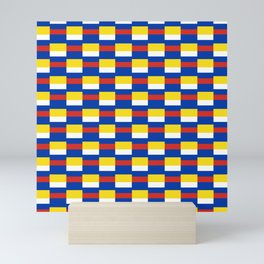 Mix of flag:  Russia and ukraine Mini Art Print