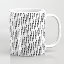 stripes black white grey Coffee Mug