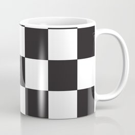 Black and White Checkered Pattern Coffee Mug
