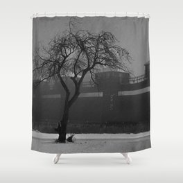 Stormy Hydroelectric Control gates Shower Curtain